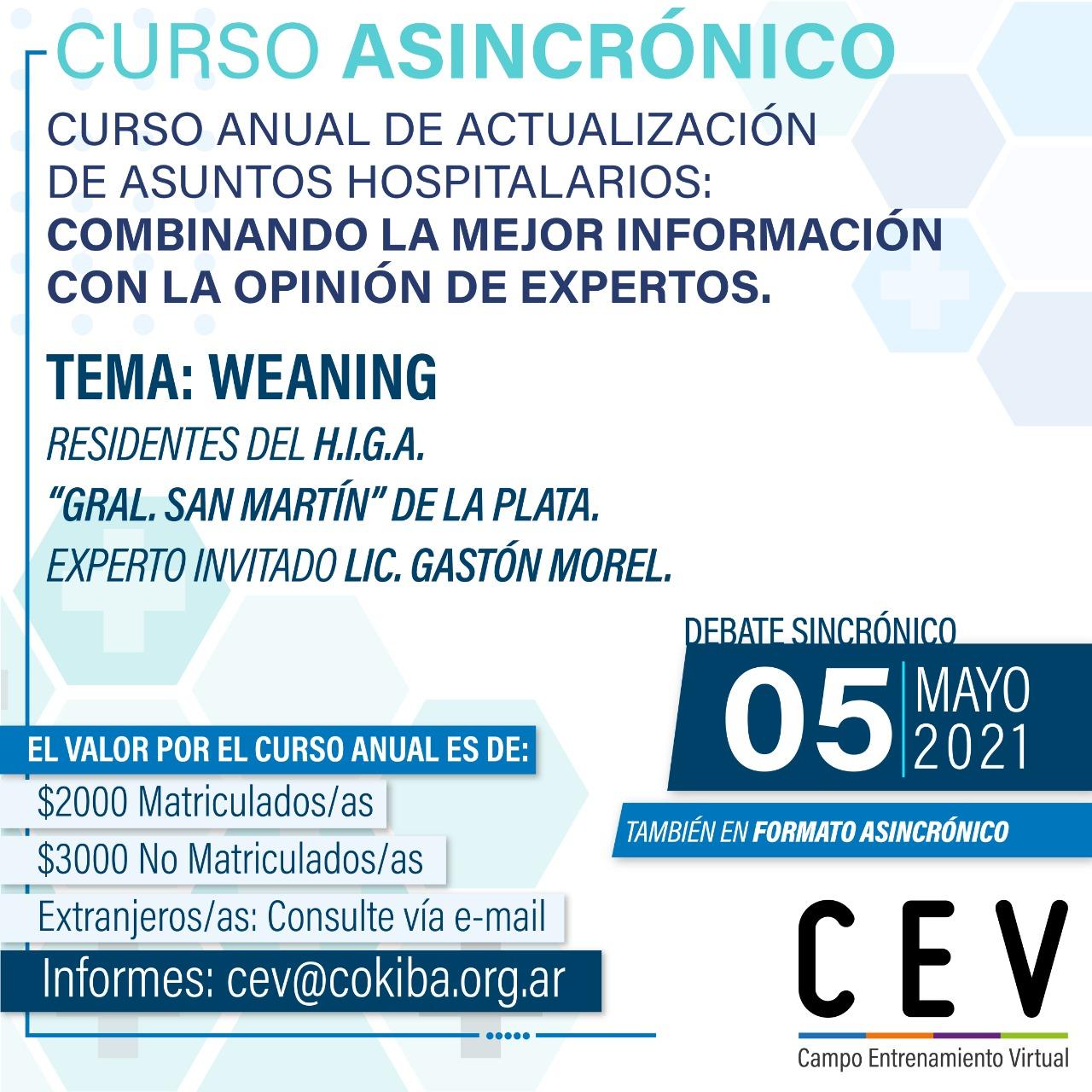 Lanzamiento Actualización anual desde el CEV