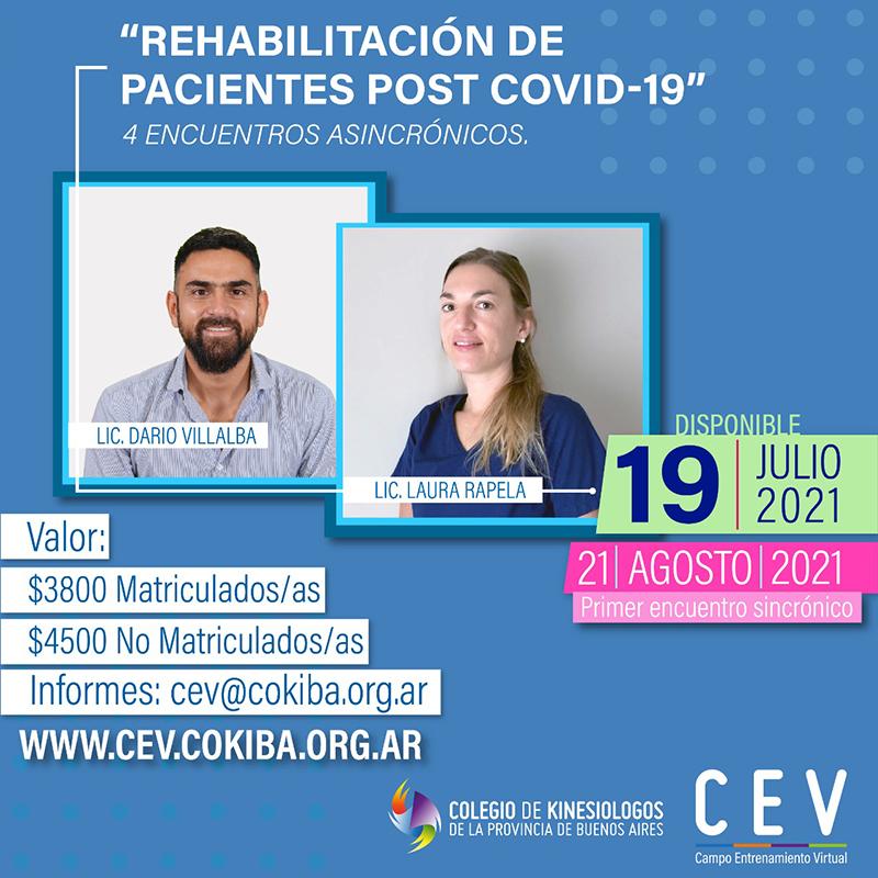 Rehabilitación de pacientes post COVID-19