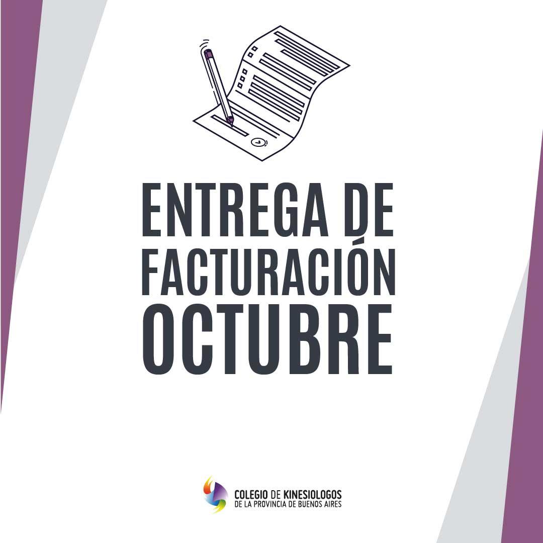 Entrega de Facturación Octubre